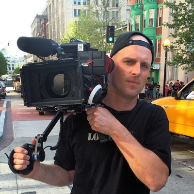 Image: Keir Johnson shooting for the Travel Channel in Washington DC